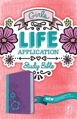 NLT Girls Life Application Study Bible Purple
