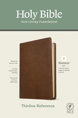 NLT Thinline Reference Filament Enabled Brown Leatherlike by Tyndale