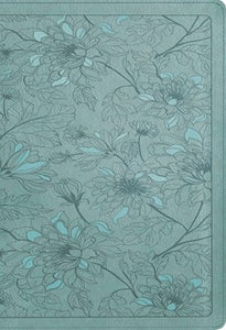 NLT Large Print Thinline Reference Filament Enabled Teal Leatherlike