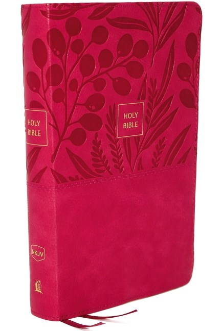 NKJV Compact End-of-Verse Reference Pink Imitation by Thomas Nelson