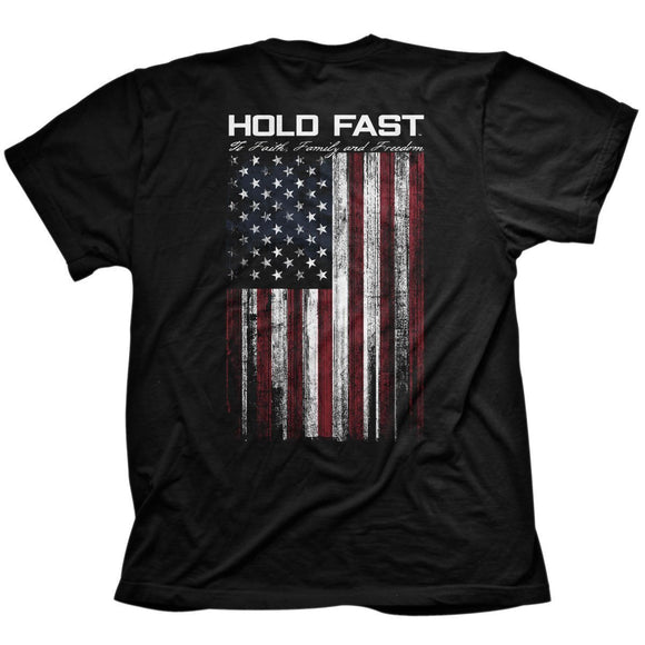 Hold Fast Flag Christian t-shirt by Kerusso. Part of the Hold Fast Collection.