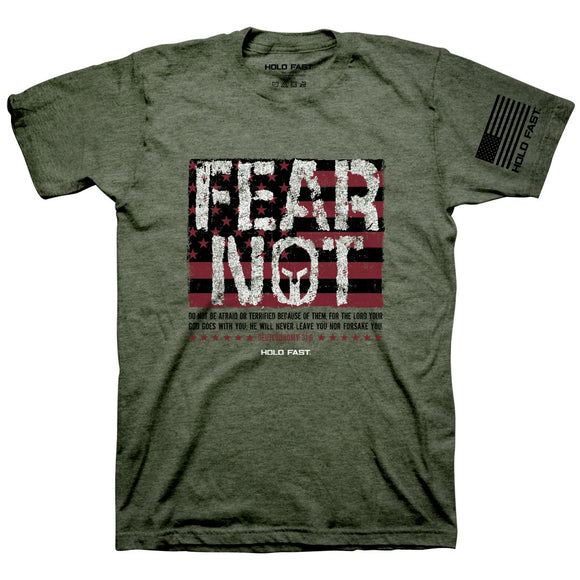 T-Shirt Fear Not Flag by Kerusso. Part of the Hold Fast line.