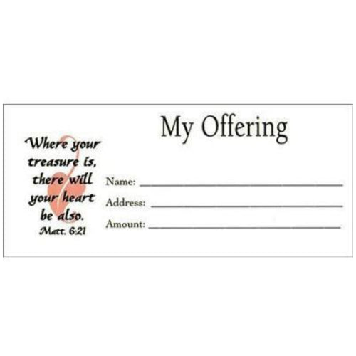 my offering tithing envelope