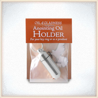 Anointing Oil Holder Silvertone