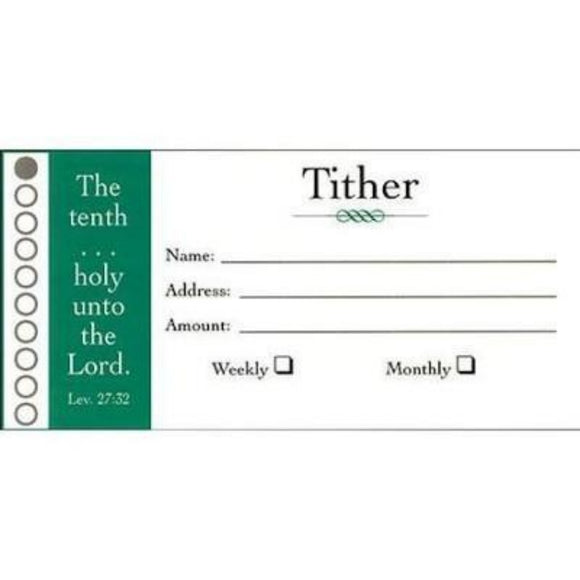 Tither tithing envelope