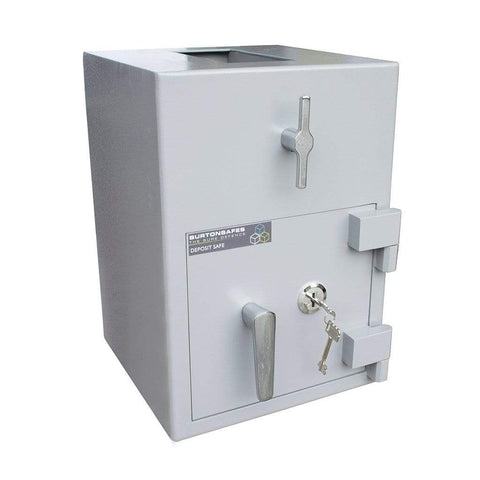 Burton Teller Electronic Cash Safe For Home & Office Door Closed Grey Colour