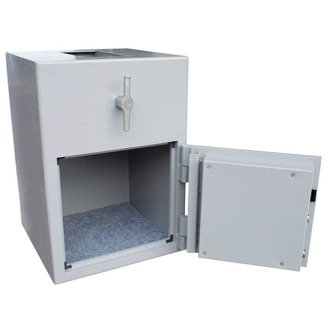 Image of Burton Teller Electronic Cash Safe For Home & Office Door open Grey Colour