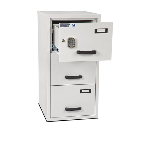 Burton Safes Fireproof Filing Cabinet Burton Safes Fire Resistant Filing Cabinet 3 Drawer Electronic Locking Anti-Tilt
