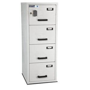 Burton Fire Resistant Anti-Tilt 4 Drawer Electronic Filing Cabinet