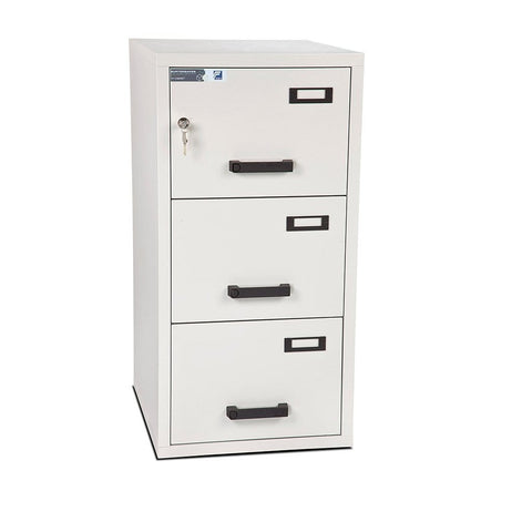 Image of Burton Fire Resistant Anti-Tilt 3 Drawer Electronic Filing Cabinet