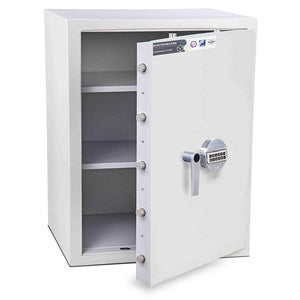 Burton Eurovault Aver Cash & Jewellery Electronic White Locker 2020