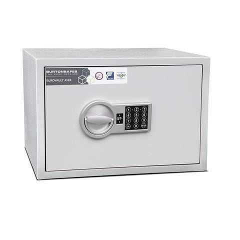 Image of Burton Eurovault Aver S2 White Electronic Pin Code Safe In Uk 2020
