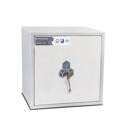 Image of Burton Eurovault Aver S2 Cash & Jewellery Key Lock White Safe In Uk