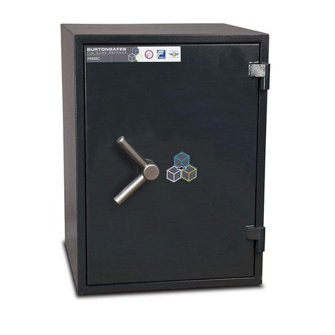 Image of Burton Firesec 10/60 Fireproof Key Locking Safe For Home & Office 2020