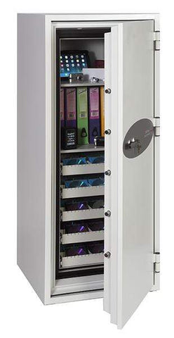 Image of Best Phoenix Data Commander 5 Drawer Data Safe With Key Lock 2020