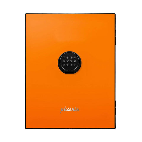 Image of Phoenix Luxury Fire Safe with Orange Door Panel and Electronic Lock