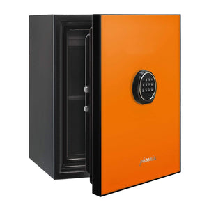 Phoenix Luxury Fire Safe with Orange Door Panel and Electronic Lock
