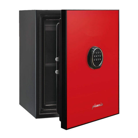 Image of Phoenix Luxury Fire Safe with Red Door Panel and Electronic Lock 2020