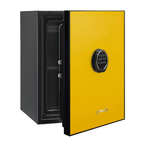 Image of Phoenix Luxury Fire Safe with Yellow Door Panel and Electronic Lock