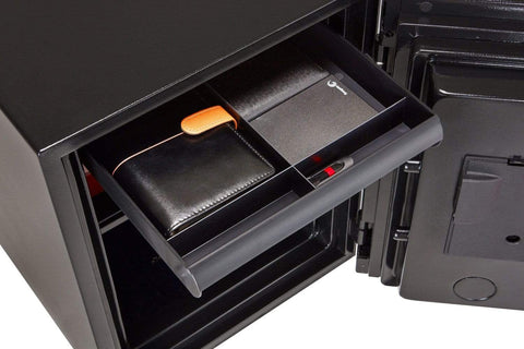 Phoenix Plus Luxury Fire Safe with Red Door Panel and Electronic Lock