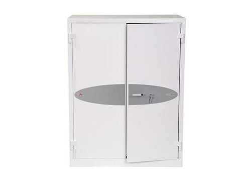 Image of Phoenix Best Ranger White Fireproof Cupboard, Key Lock Online