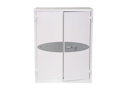 Phoenix Best Ranger White Fireproof Cupboard, Key Lock Online