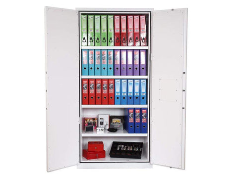 Phoenix High Quality Fire Chief White Fireproof Cupboard, Key Lock