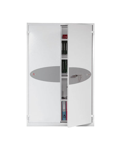 Phoenix Best Chief White Fireproof Cupboard Cabinet With Key Lock