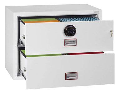 World Class Lateral 2 Drawer Filing Cabinet with Fingerprint Lock