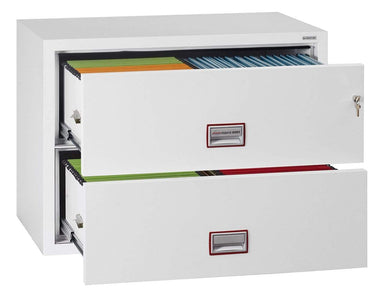 Phoenix World Class Lateral Fire 2 Drawer Filing Cabinet with Key Lock