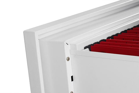 Image of Phoenix World Class Lateral Fire 2 Drawer Filing Cabinet with Key Lock