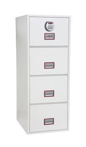 World Class Vertical Fire 4 Drawer Filing Cabinet with Electronic Lock