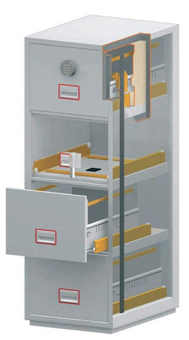 Image of World Class Vertical Fire 4 Drawer Filing Cabinet with Electronic Lock