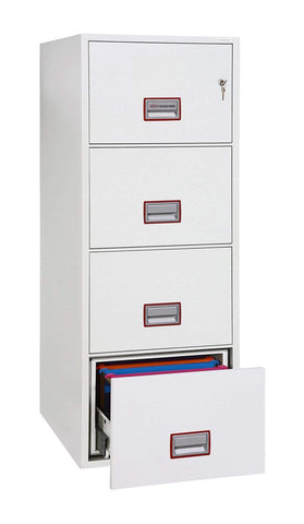Image of Phoenix World Class Vertical 4 Drawer Filing Cabinet with Key Lock