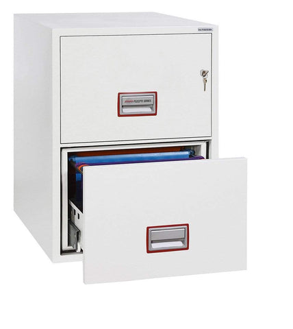 Image of World Class Vertical Fire 2 Drawer Filing Cabinet with Key Lock 2020