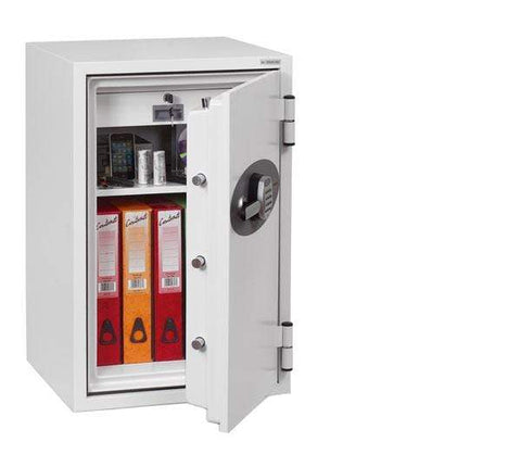 Phoenix Fire Fighter White Electronic Fireproof Safe With Pin Code
