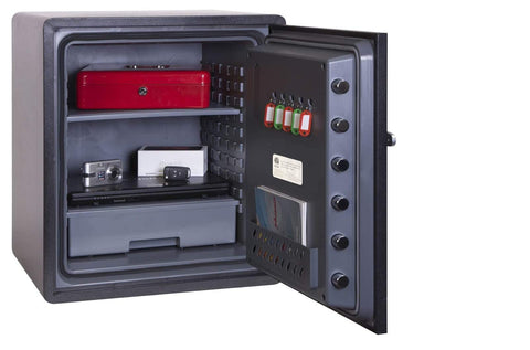 Image of Phoenix Titan Aqua Electronic Fireproof Water Resistant Safe, Black