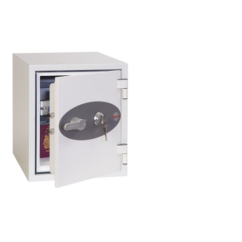 Phoenix Titan White Fireproof Safe For Cash & Jewelry With Key Lock