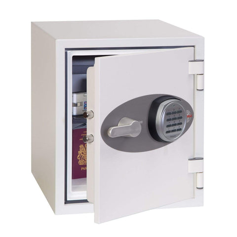 Phoenix Titan White Fireproof Data & Cash Safe With Electronic Lock