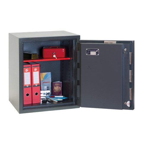 Phoenix Mercury High Security Fireproof Safe with Key Lock, Grey