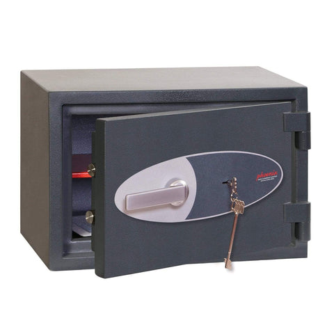 Phoenix Neptune High Security Electronic Safe, Grey With Key Lock