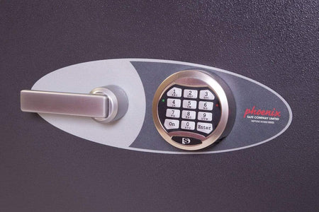 Phoenix Neptune High Security Electronic Safe, Grey With Pin Code Lock