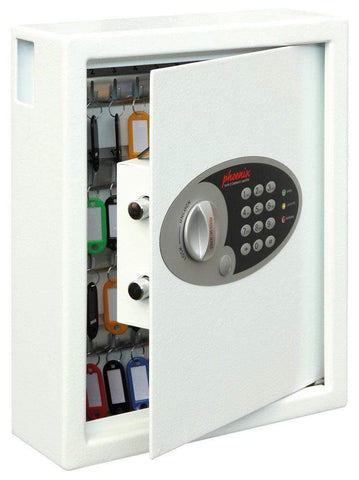 Phoenix Cygnus Key Deposit Electronic White Safe For Home & Office