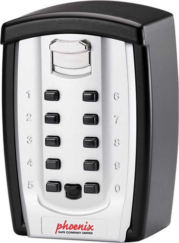 Phoenix Best Store Weatherproof Key Safe with Combination Lock, Black