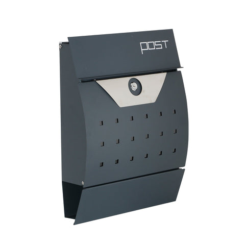 Image of Phoenix Estilo Front Loading Letter Box in Graphite Grey with Key Lock