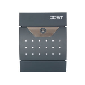 Phoenix Estilo Front Loading Letter Box in Graphite Grey with Key Lock