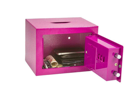 Phoenix Compact Pink Deposit Slot Electronic Security Safe 2020