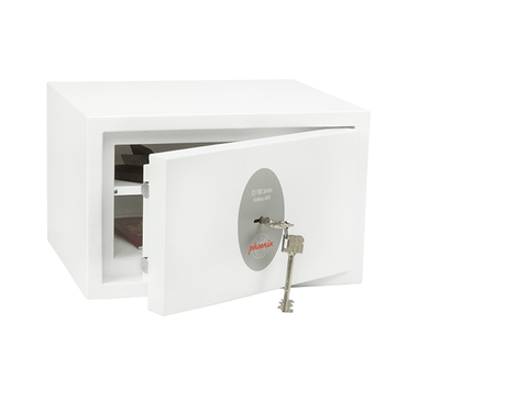 Phoenix Fortress White Security Safe For Home & Office With Key Lock