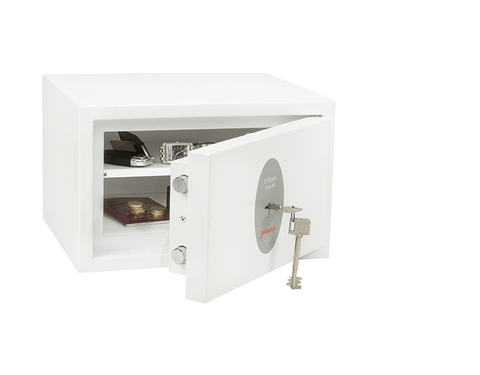 Image of Phoenix Fortress White Security Safe For Home & Office With Key Lock