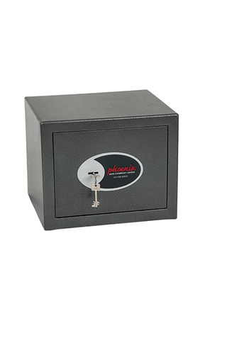Phoenix Security Safe Phoenix Lynx SS1171K Security Safe with Key Lock, Size 1, Graphite